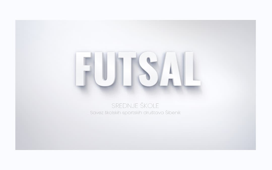 Futsal, naslovna slika SŠSD ŠKŽ za srednje škole.