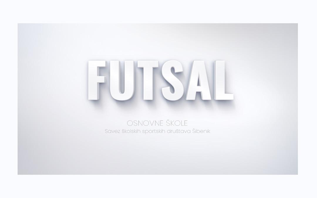 Futsal, naslovna slika SŠSD ŠKŽ za osnovne škole.