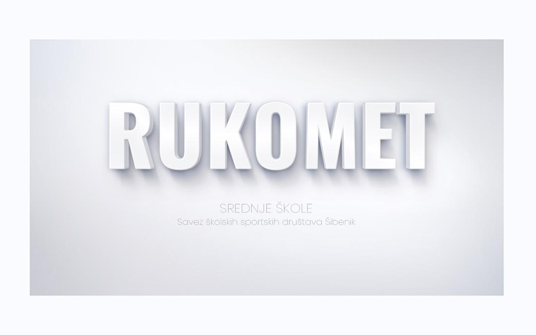 Rukomet naslovna slika za srednje škole SŠSD ŠKŽ.