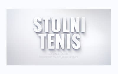 Stolni tenis za djevojke sš – 2019-20